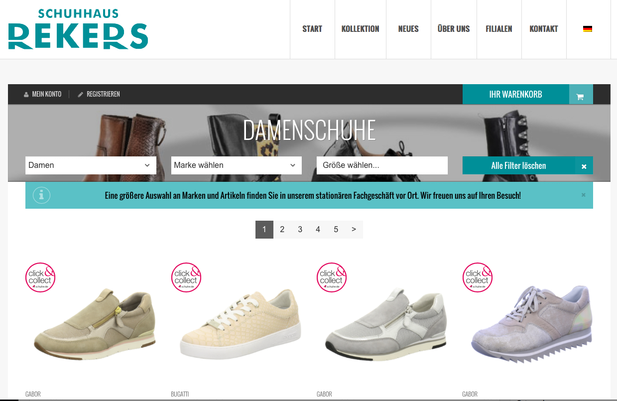 Onlineshop Rekers