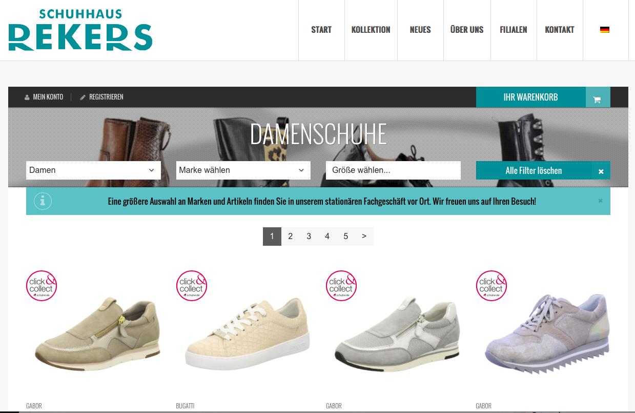 Onlineshop Rekers